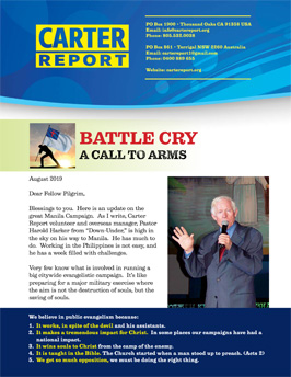 Carter Report August 2019 Front Page